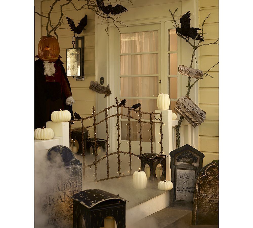 Halloween Masquerade Party In Style Headless horseman, Crows and - black and white halloween decorations