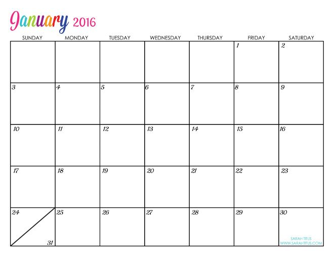 2016 free printable calendars planner books pinterest 2016