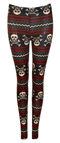 Fair Isle Skull sweater tights ♡