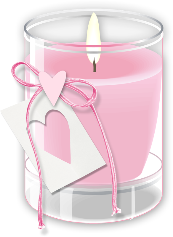 pink candle clip art - candles