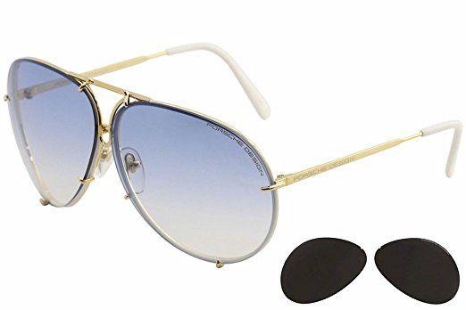 63248e874685 Porsche Design P 8478 P8478 W Gunmetal Aviator Sunglasses W Extra Lenses  Review
