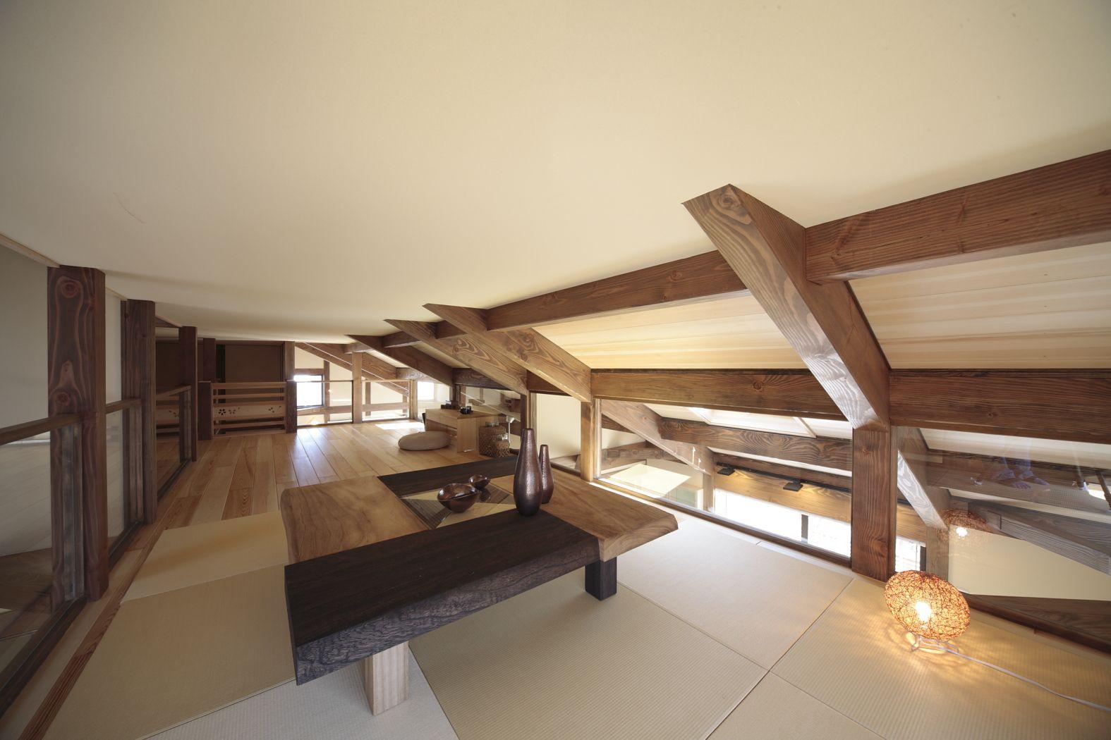 ロフトスペース ロフト 屋根裏 屋根裏部屋 隠れ家 自然素材 無垢