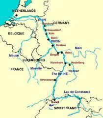 Rhine River In 2020 Germany Map River