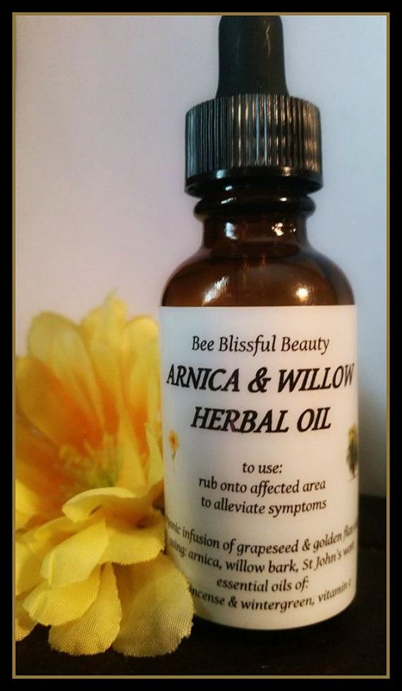 $11 99+ HERBAL PAIN RELIEF Arnica Willow Bark Oil by