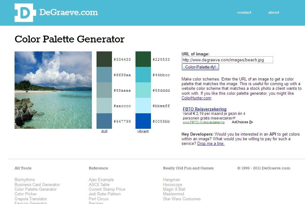 Color Palette Generator. Make color schemes. Enter the URL of an ...