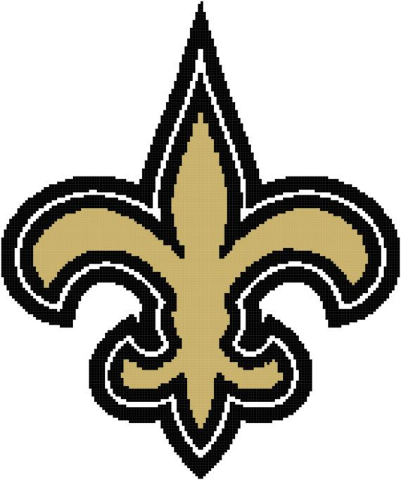New Orleans Saints Logo Crochet Graph Pattern By
