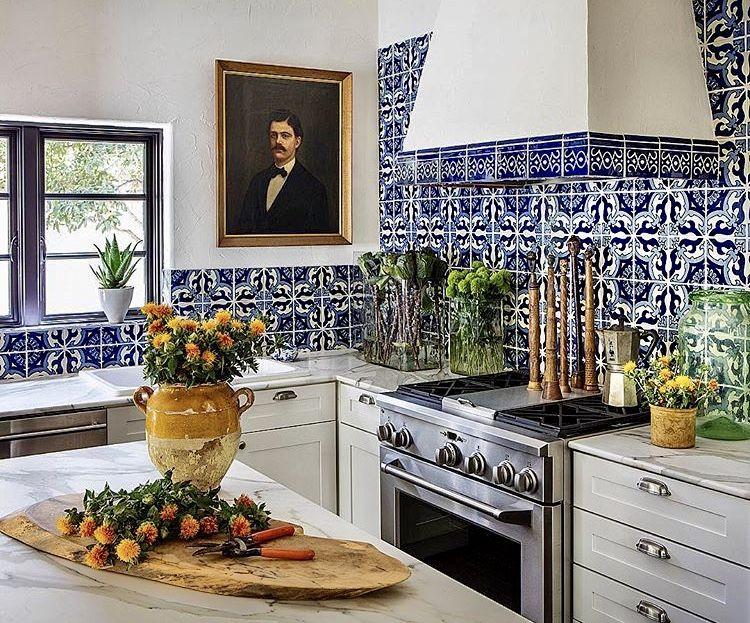 Design by Pamela Jaccarino I Love Blue and White Kitchen