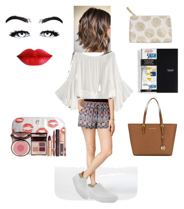 """""""11th grade first day outfit"""" by skylasimshauser on Polyvore featuring BeBop, Steve Madden, MICHAEL Michael Kors, Mead, Charlotte Tilbury and DESIGNWORKS INK"""