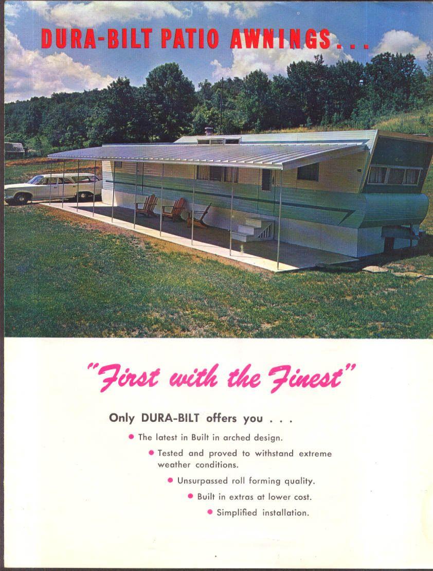 Dura Bilt Patio Awnings For Mobile Homes Sales Folder 1960s Ebay