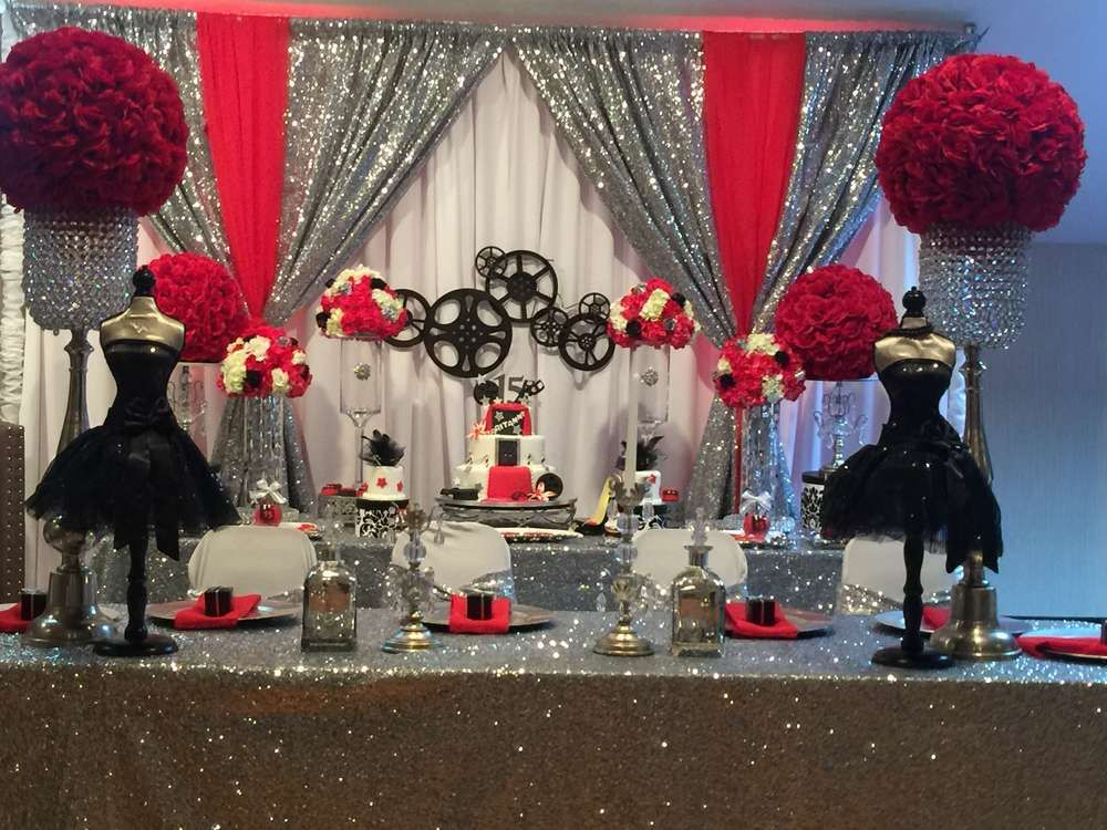 Hollywood Quinceañera Party Ideas | Photo 15 of 15 & Hollywood Quinceañera Party Ideas | Favorite Party Ideas by Melanie ...