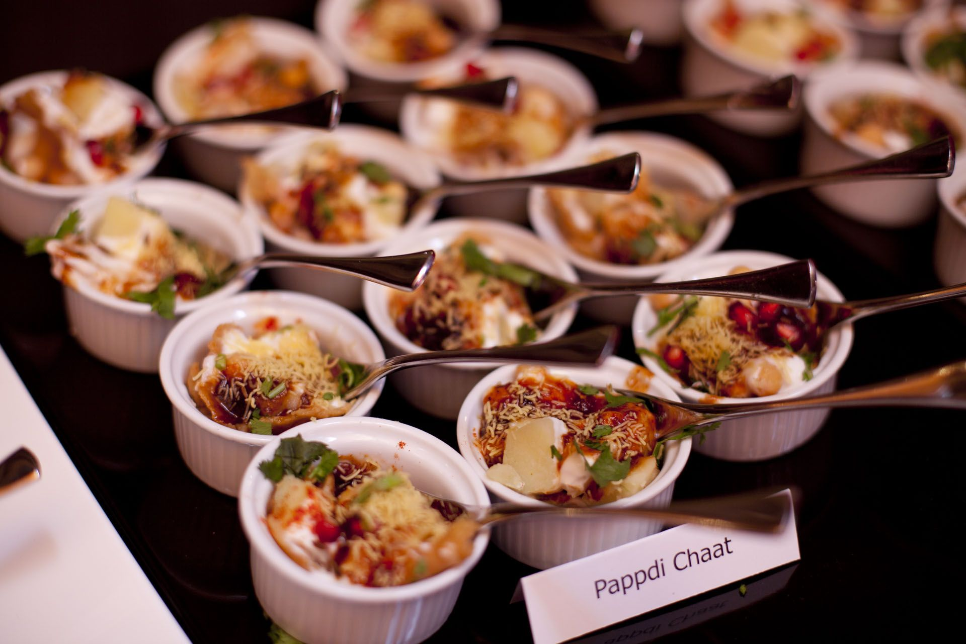 Pappadi chaat canapes weddingfood for Canape menu ideas