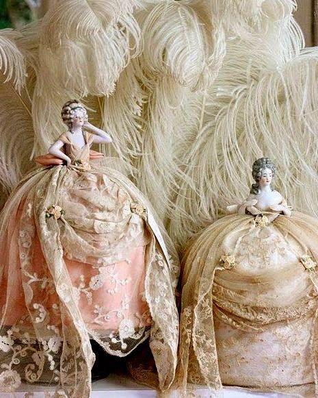 Милые сердцу штучки, винтажные куклы-игольницы / Удивительное искусство