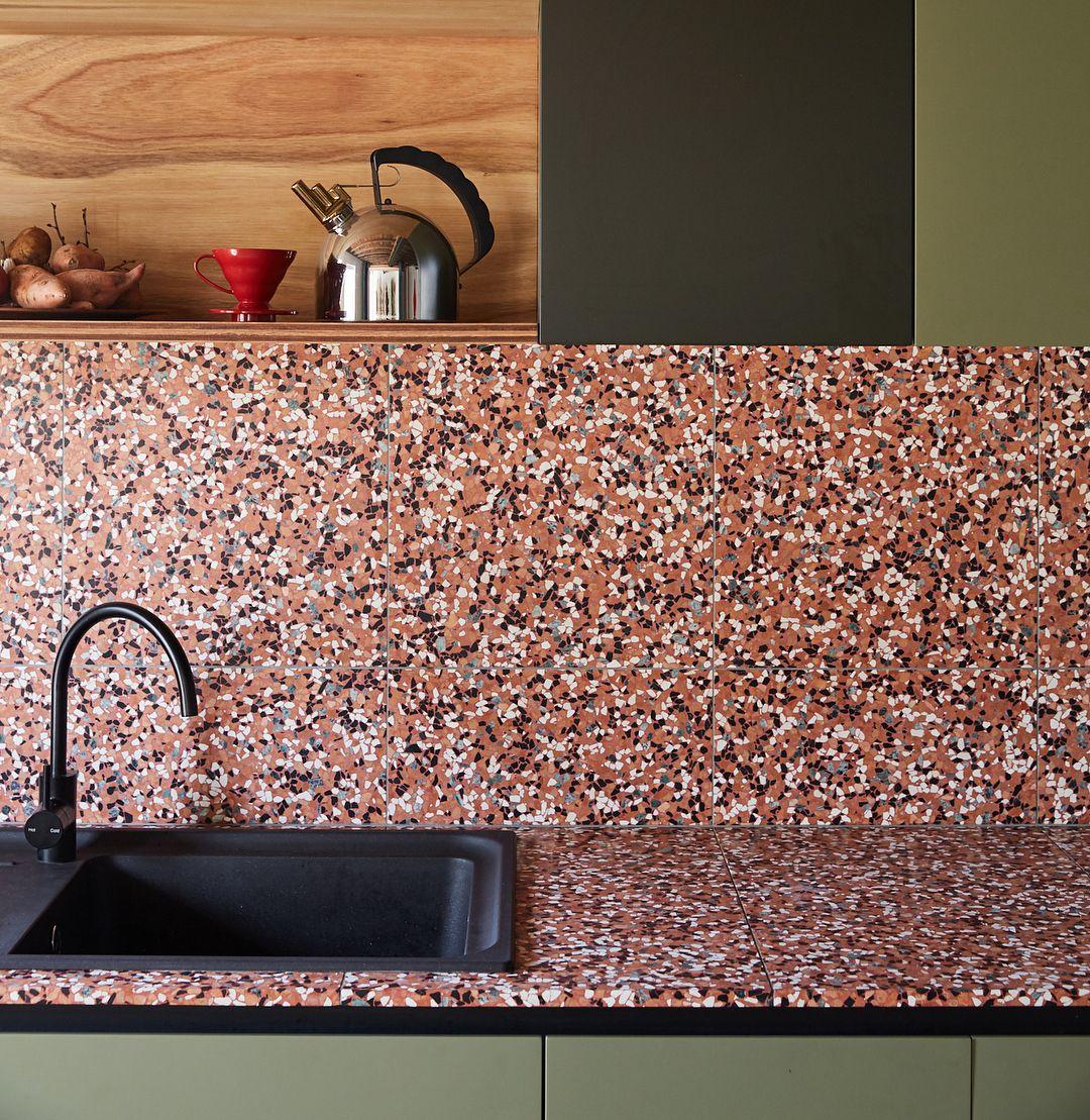 Terrazzo Tile For Kitchen Sink Terrazzo Diy Kitchen Remodel Terrazzo Antique Sink Kitchen