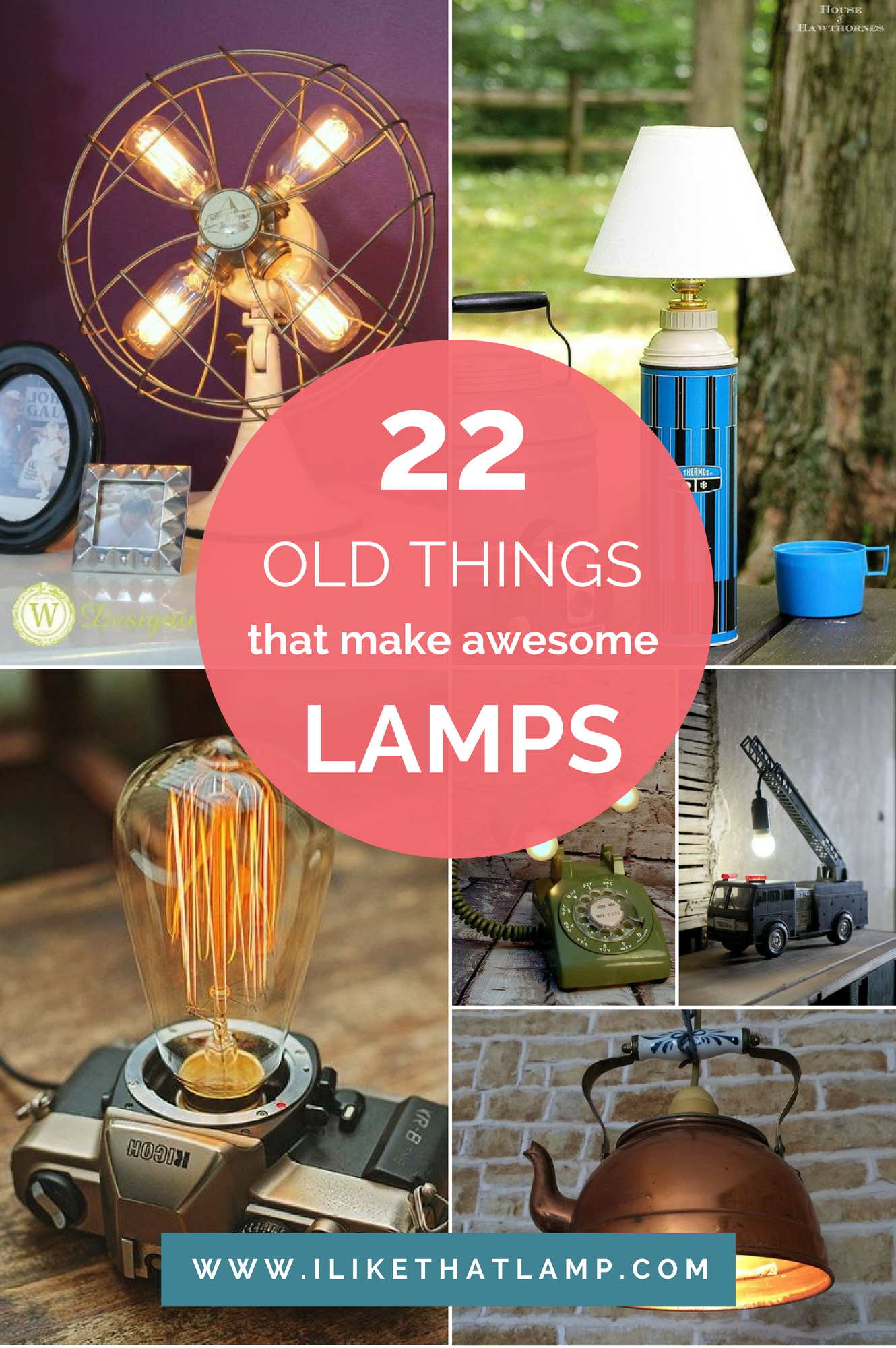 22 Old Things That Make Awesome DIY Lamps | Diy lamp, Diy