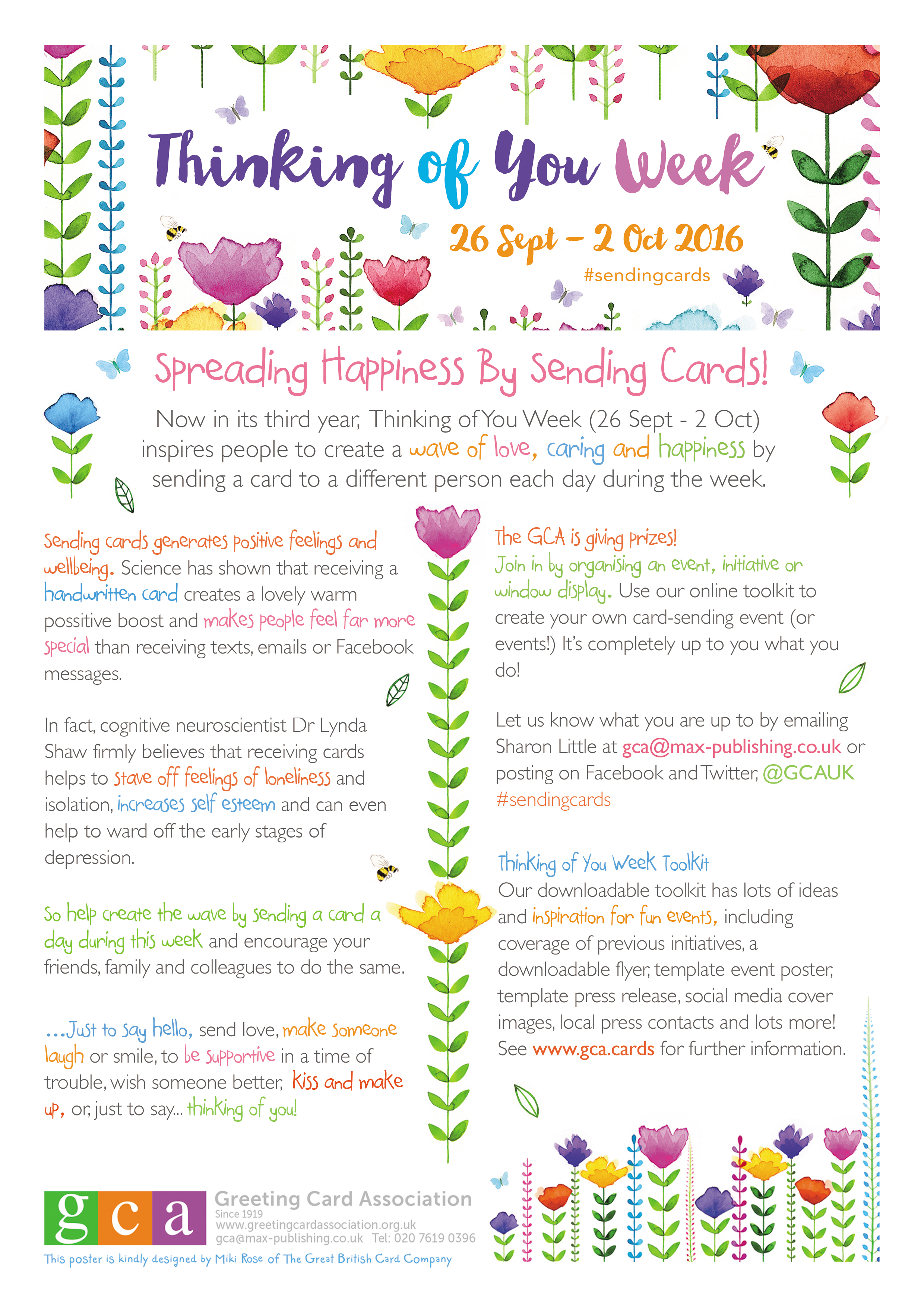 Thinking Of You Week 26 Sept 2 Oct 2016 Spreading Happiness By