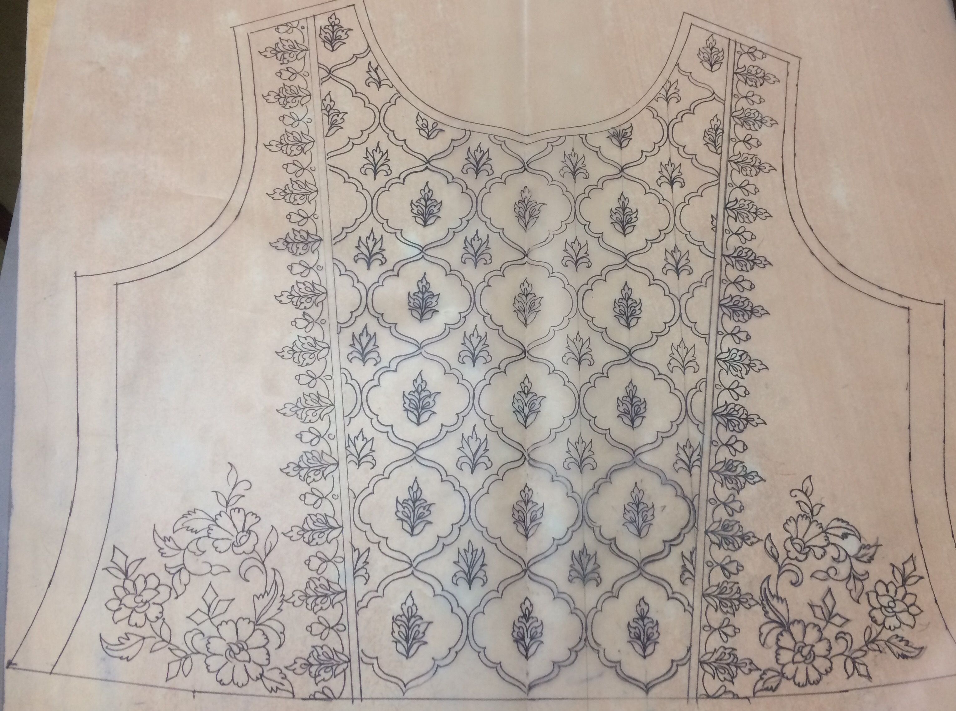 Embroider pattern before cutting and sewing   Costuming   Pinterest ...