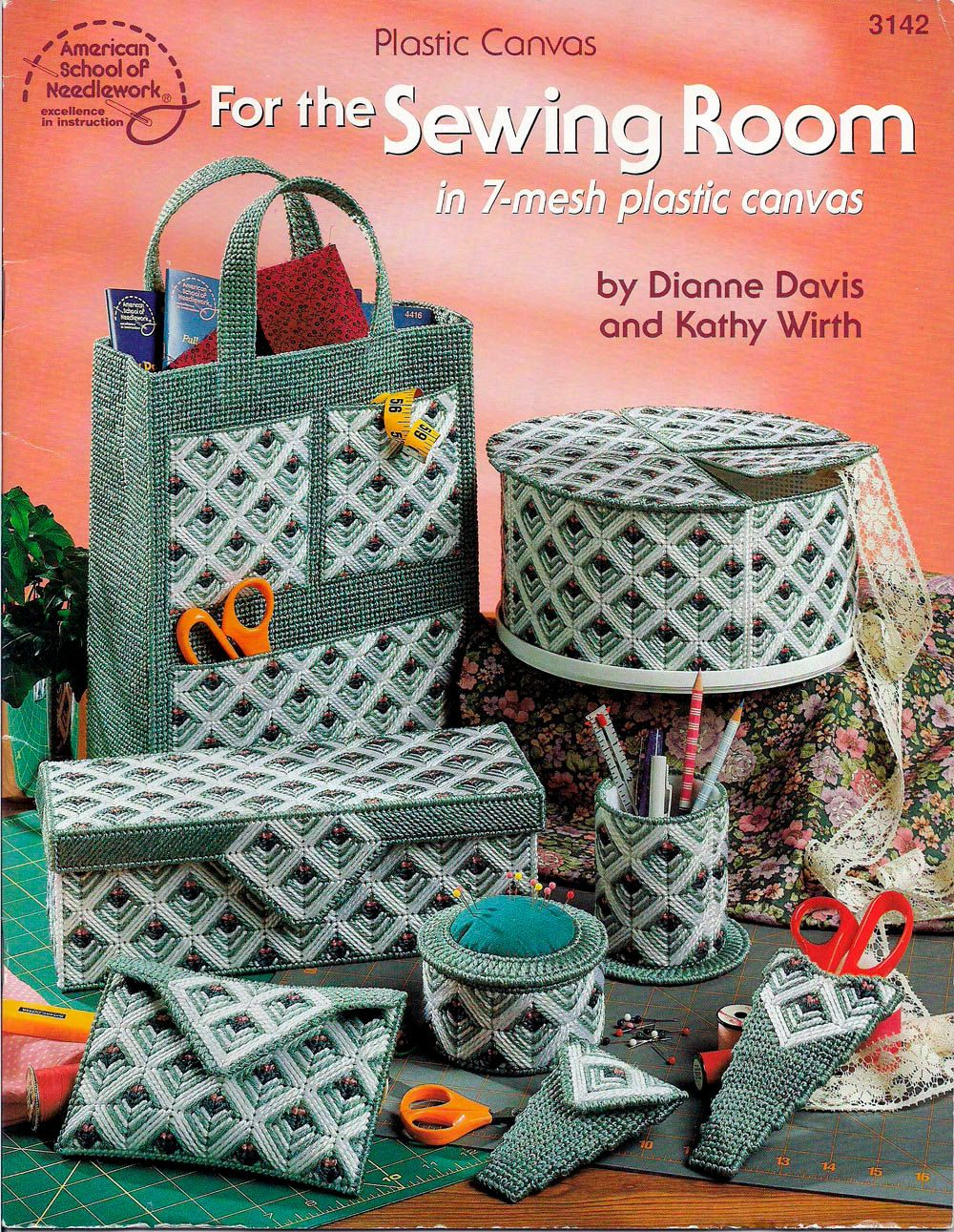 For The Sewing Room In 7 Mesh Plastic Canvas Plastic Canvas Pattern Book Plastic Canvas Patterns Canvas Patterns Plastic Canvas Crafts