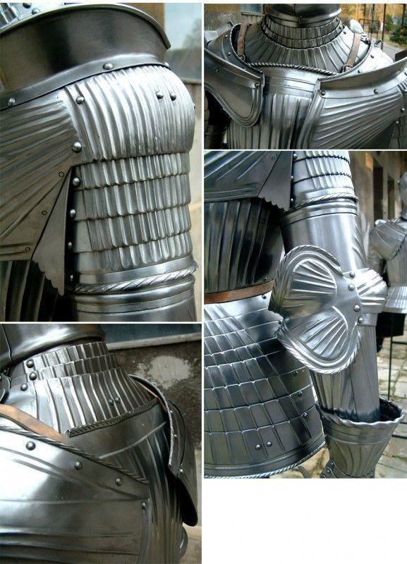 details of full armor knight armor