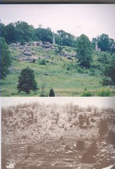 Gettysburg: Little Round Top - then and now