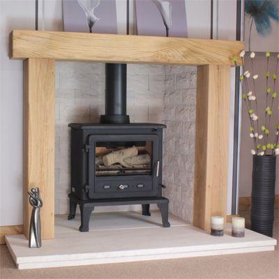 Canterbury Rustic Solid Oak Beam Fireplace Fireplace