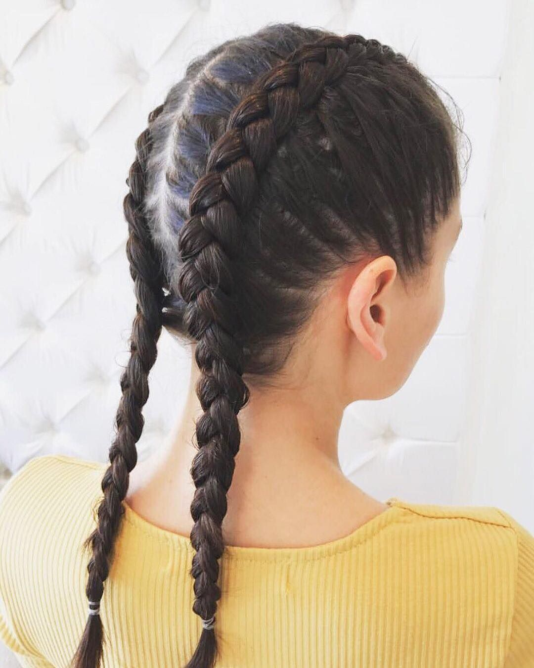 Two Braids Are Better Than One Rope Braided Hairstyle Braided Hairstyles Braids For Short Hair