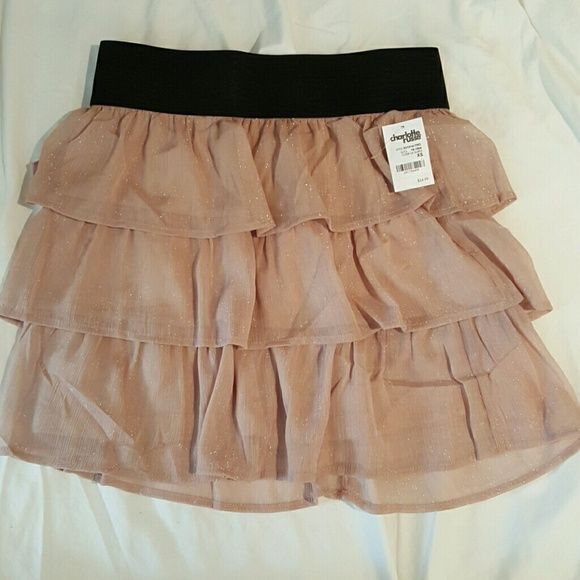 Charlotte Russe Pink Rose Ruffled Skirt Very cute ruffled skirt perfect for any occasion  Elastic waistband Charlotte Russe Skirts Mini