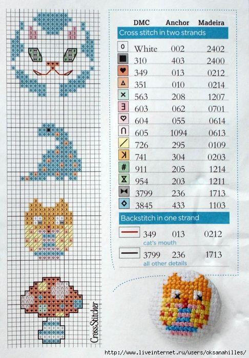 Botones punto de cruz patrón patrones / cross stitch patterns for ...