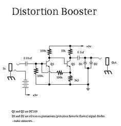 guitar distortion schematic ideas pinterest guitars rh pinterest co uk Simple Distortion Pedal Schematic Low Distortion Headphone Amp Schematic