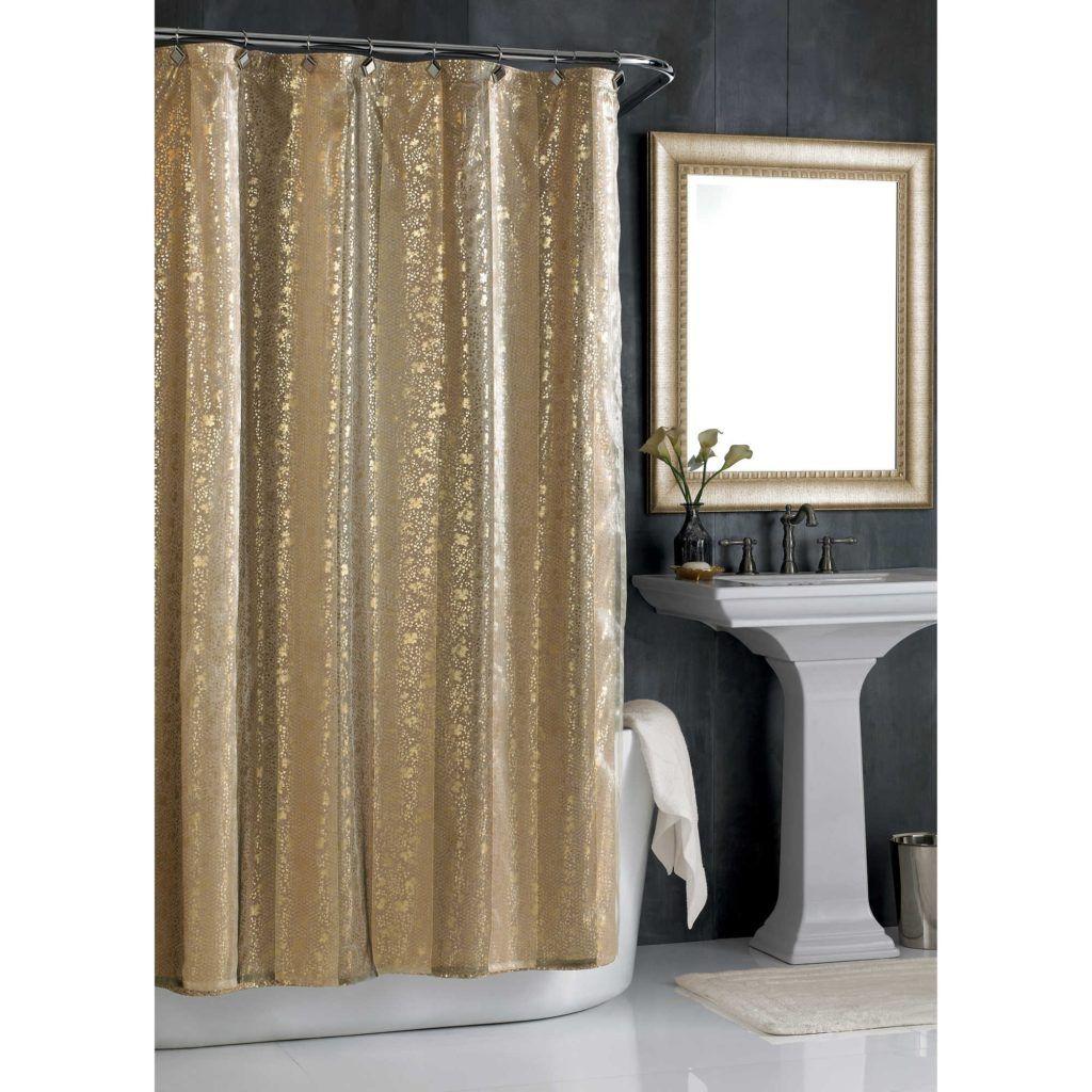 72 X 78 Gold Shower Curtain Home Purple Bathrooms