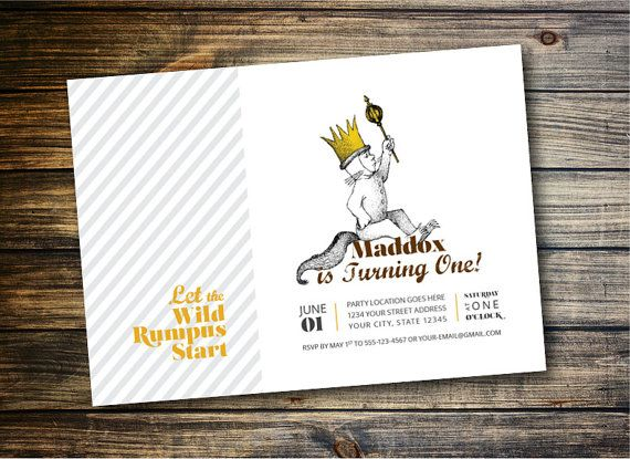 Where the Wild Things Are Birthday Invitation Max DIY Printable