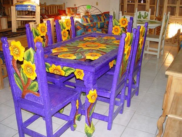 Sunflower Mexican Dining Table Mexican Furniture Kids Bedroom