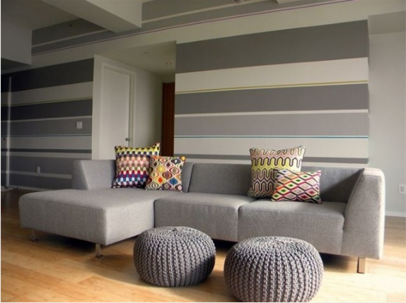 The Design Pages How To Create A Striped Wall Painting Stripes On Walls Wall Paint Designs Striped Walls
