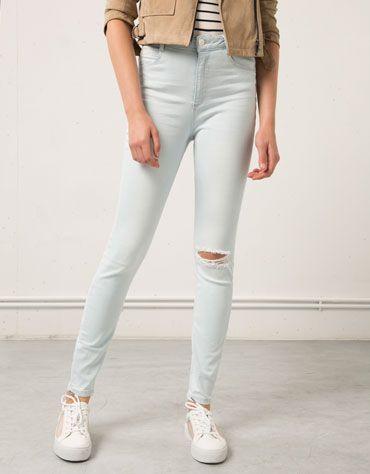 601fcd87683d Super Skinny High waist jeans Bershka - Woman - Bershka Macedonia ...