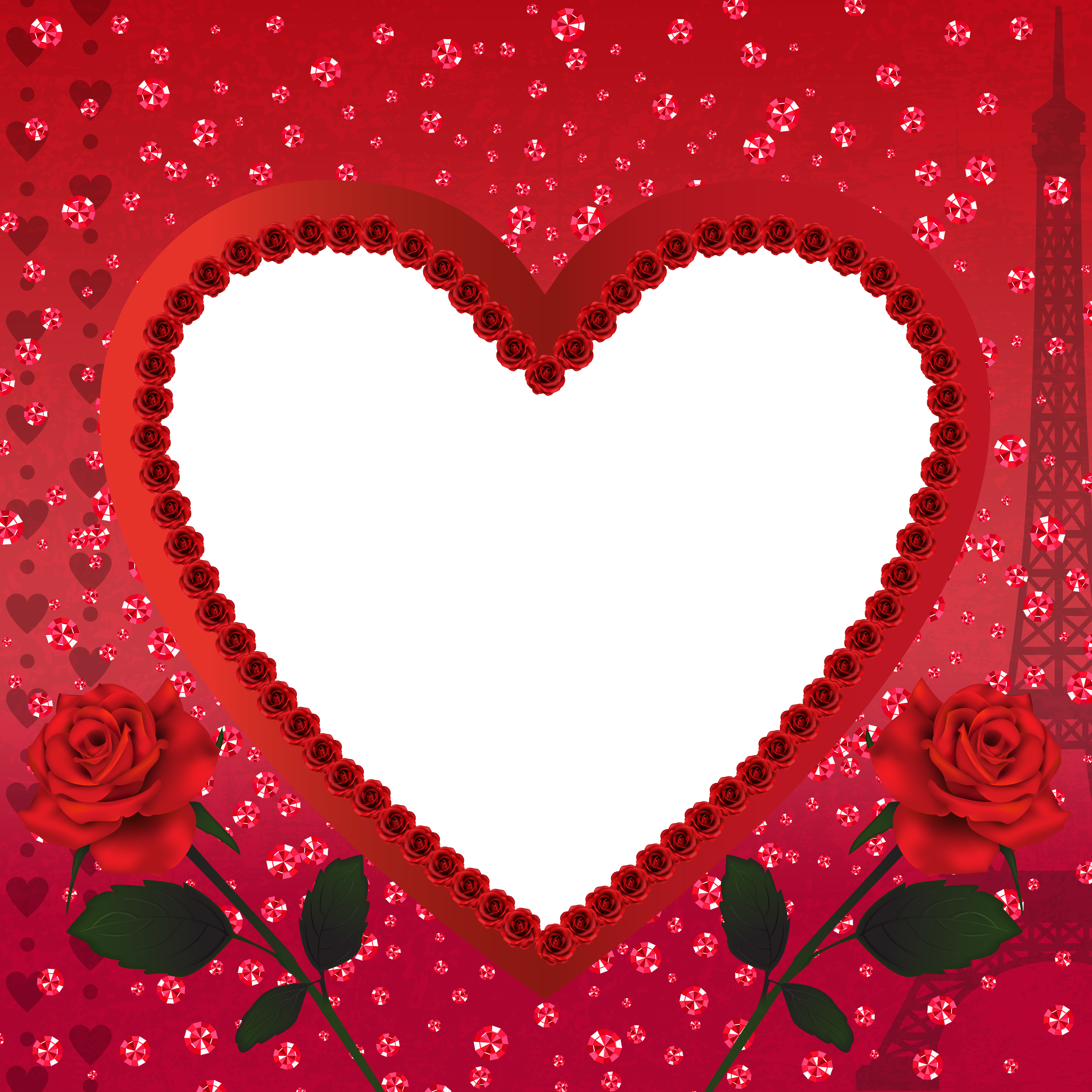 Heart Romantic Love In Paris Png Transparent Frame Gallery Yopriceville High Quality Images And Transparent Png Fre Flower Frame Valentine Crafts Love Png