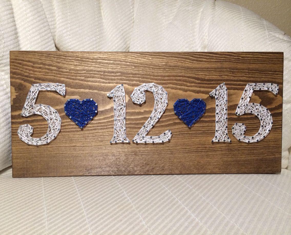 Wedding Date Gift Ideas: Wedding Date String Art Sign, Anniversary, Birthday