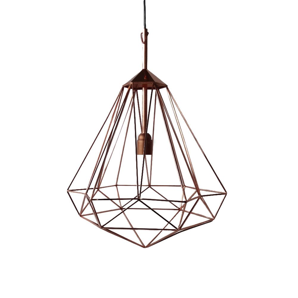 Diamond Lamp   Copper   Medium From Pols Potten