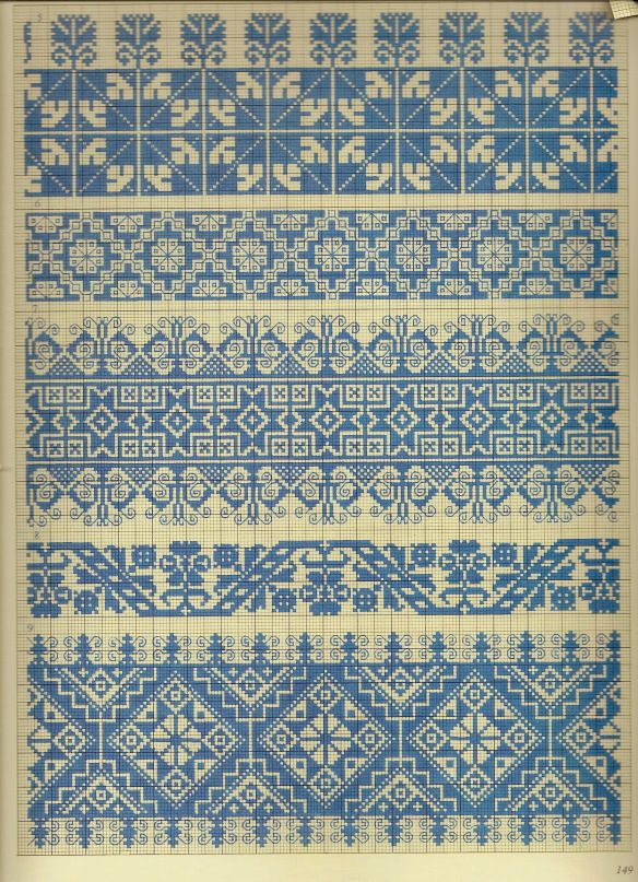 Folk cross stitch patterns | charts | Pinterest | Stiche, Tabellen ...