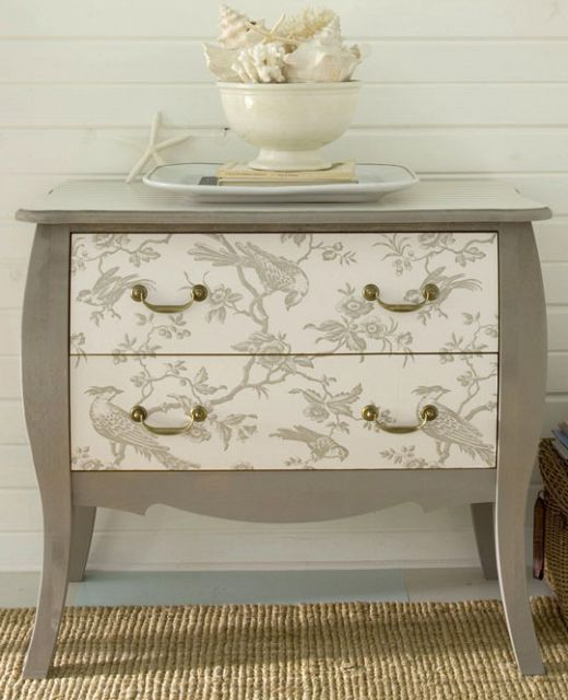Hometalk :: DIY Project of the Week - Wallpaper your furniture!