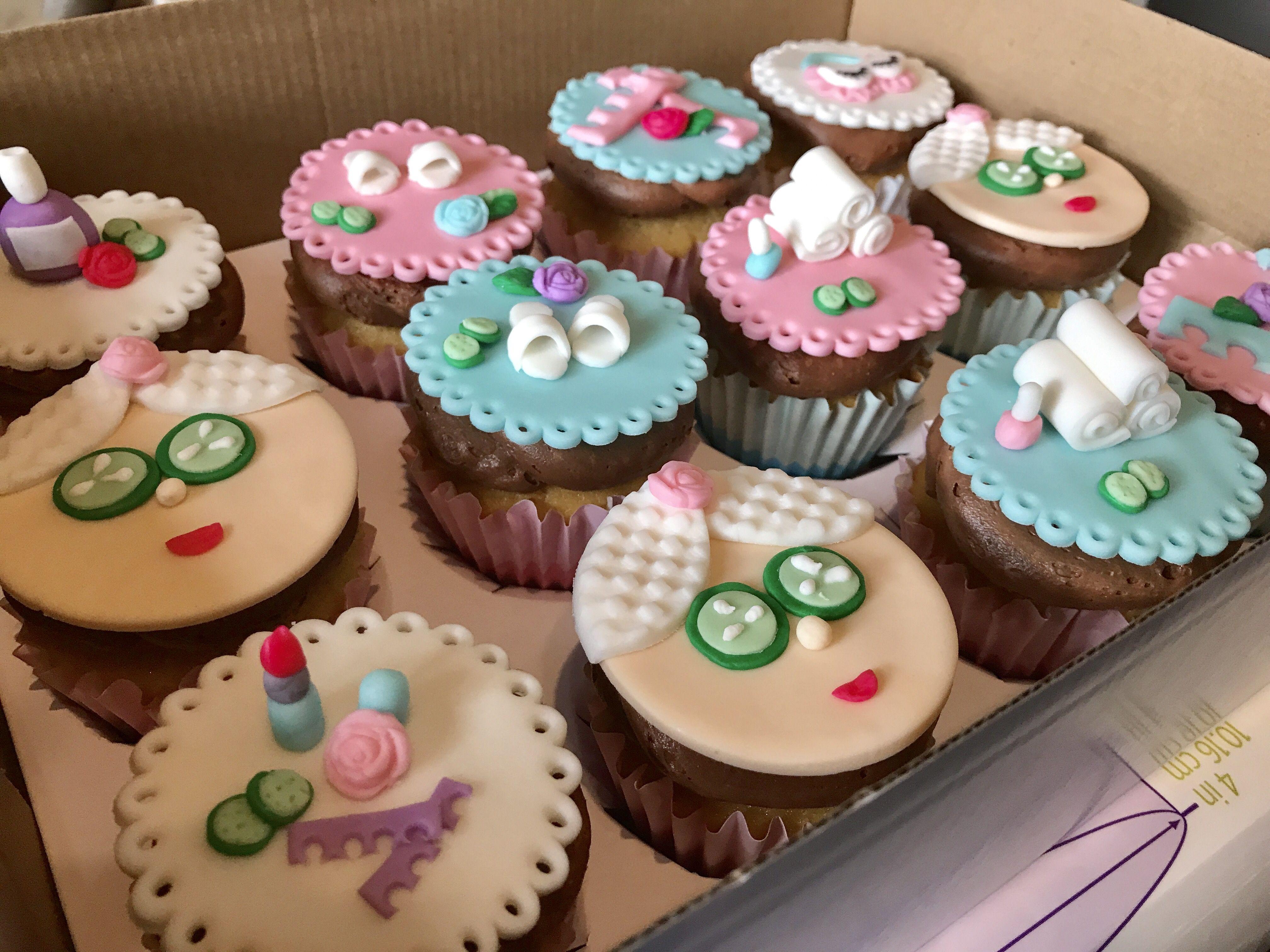 Spa themed cupcakes wwwfacebookcomFriscoCakePopShop wwwinstagram