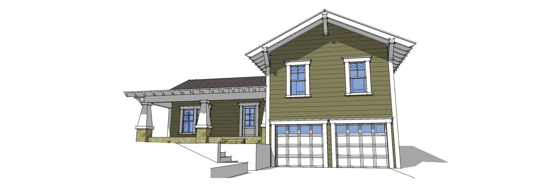 split-level house-plan idea | Home Styles | Pinterest | Roof ...