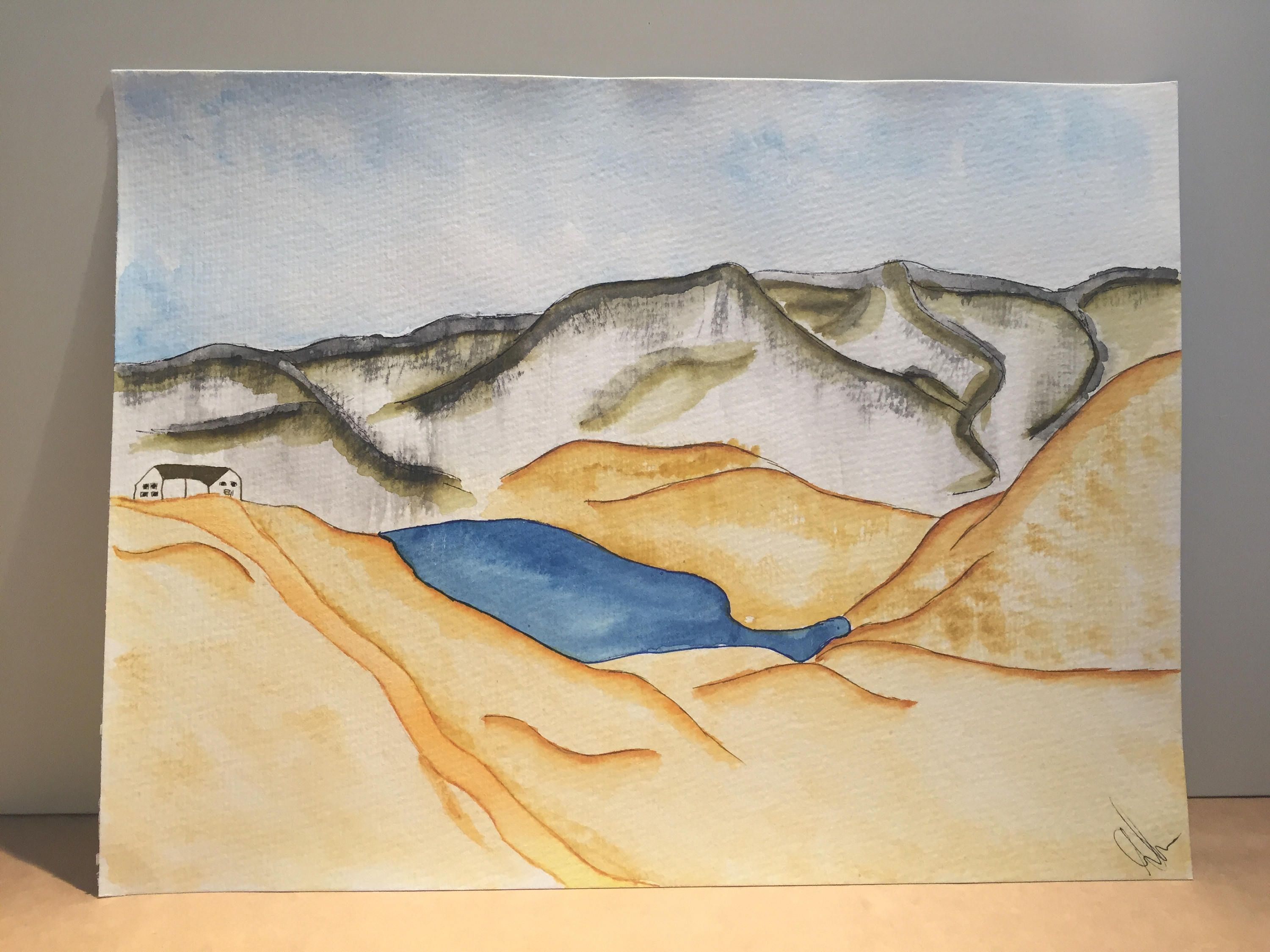 Grossglockner, painting, watercolour painting, landscape painting ...