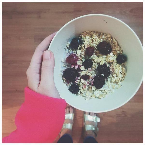 desayuno de avena. Oatmeal. Breakfast.