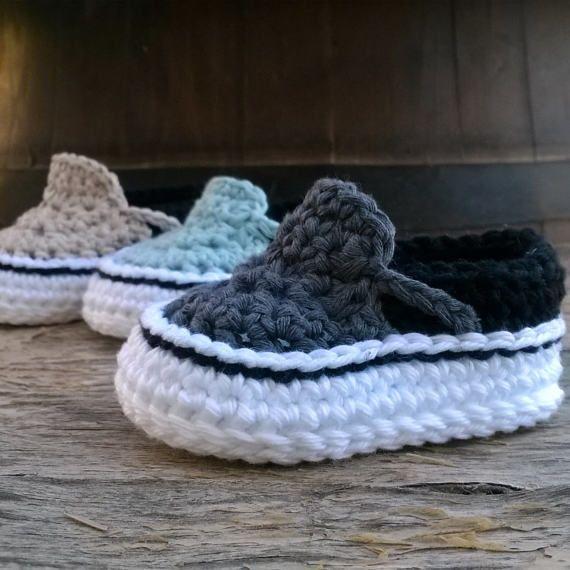 Crochet PATTERN. Vans style baby sneakers. Instant Download | Estilo ...