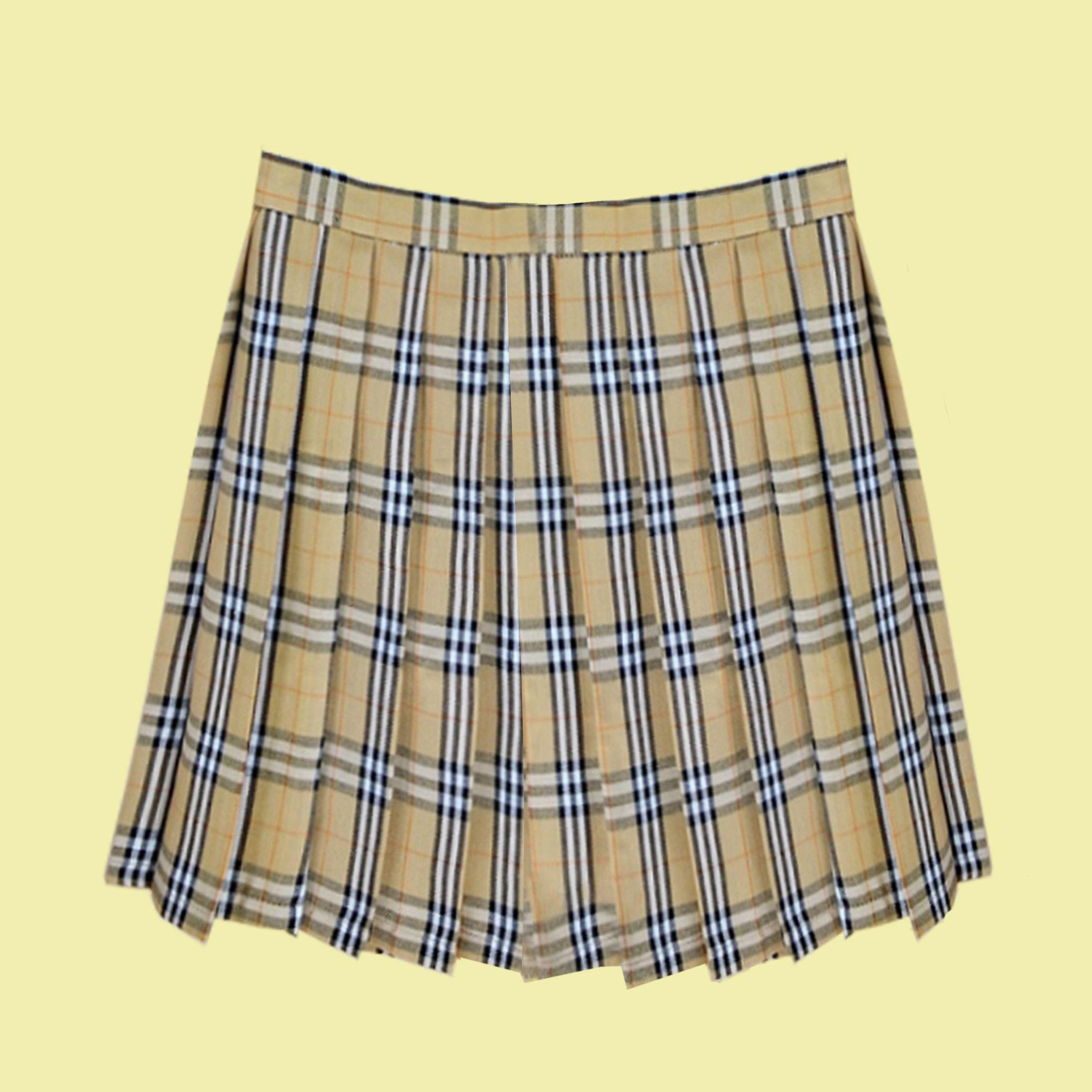 plaid tumblr pleated skirt -brown | clothes | pinterest | plaid