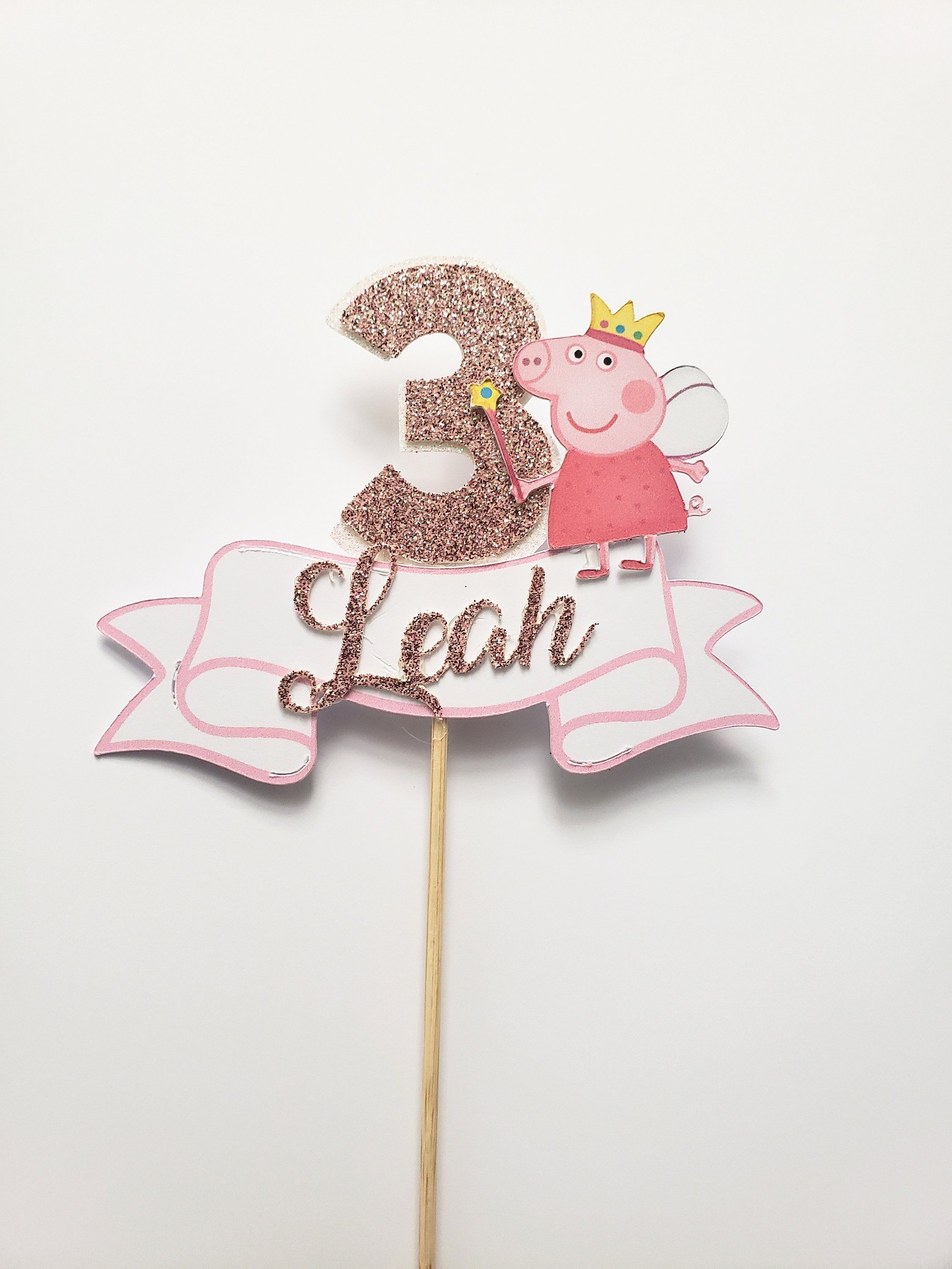Terrific Peppa Pig Cake Topper Peppa Pig Birthday Party Peppa Pig Cake Funny Birthday Cards Online Overcheapnameinfo