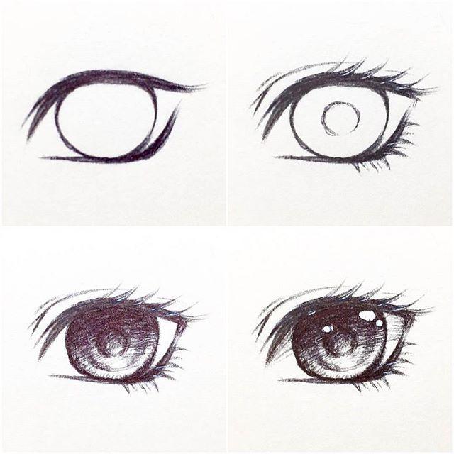 خطوات رسم عين أنمي By Tasuchii Anime Eye Drawing Anime Drawings Sketches Art Drawings