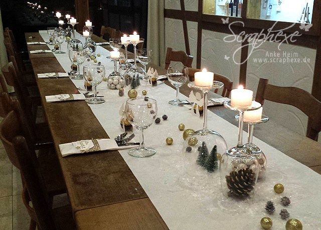 Weihnachten scraphexe tisch deko weihnachten festliche for Weihnachtliche dekoration
