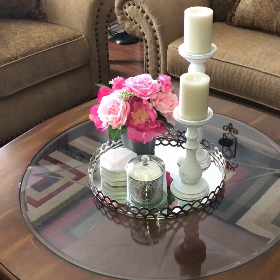 How To Accessorize Your Coffee Table For Winter Coffee Table Decor 4 Ways Made By Creativebossmom Decorating Coffee Tables Table Decorations Coffee Table [ 960 x 960 Pixel ]