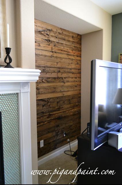 Wood Plank Tv Nook Wall Nook Tv Nook Wood Plank Walls