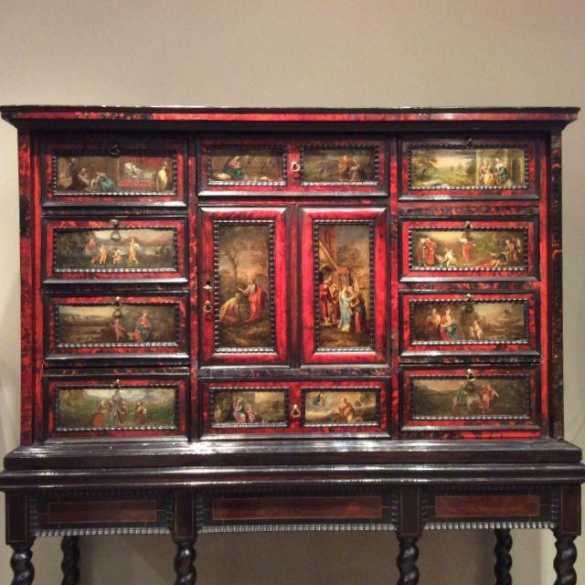 Cabinet Flamand A Peintures Cabinet Mobilier 17eme Siecle